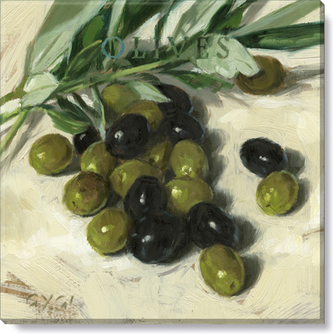 olives kitchen wall decor canvas art print