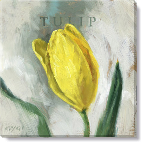 yellow tulip canvas art print