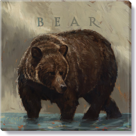 bear canvas giclee art print