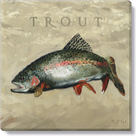 trout canvas art print