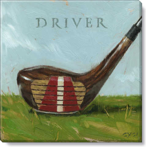 golf driver canvas art print