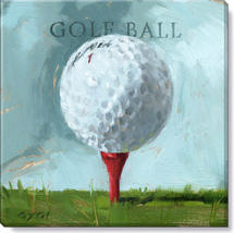 golf ball canvas art print