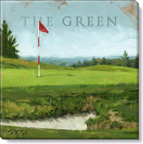 the green golf canvas print