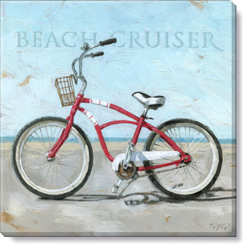 beach cruiser canvas art print