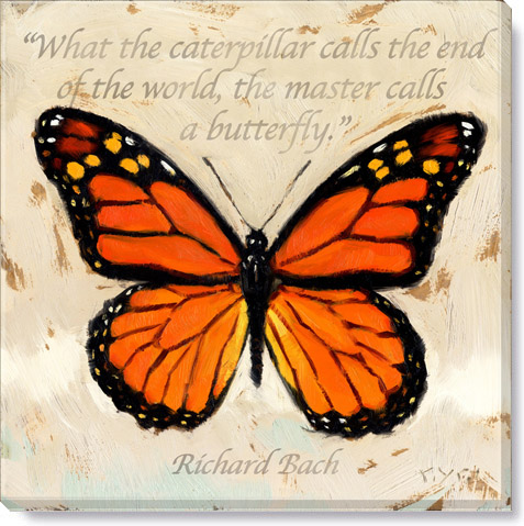 inspirational monarch canvas art print