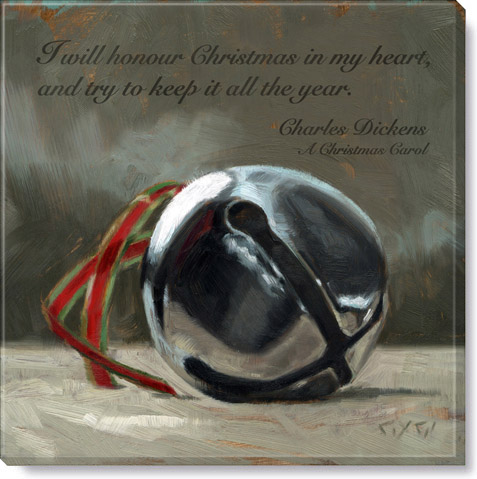 inspirational jingle bell art print