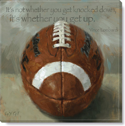 inspirational football quote print