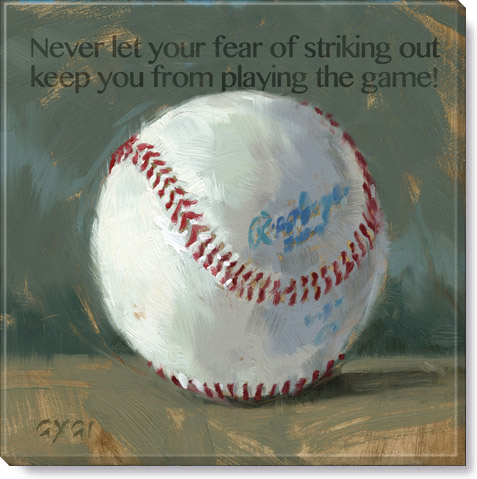 inspirational baseball quote print