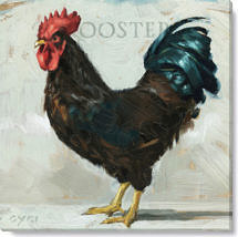 roosterooster cluck kent canvasprint