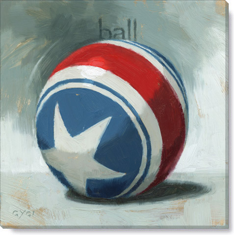 ball art for a bedroom - canvas art print