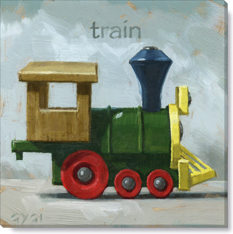 toy train canvas art print