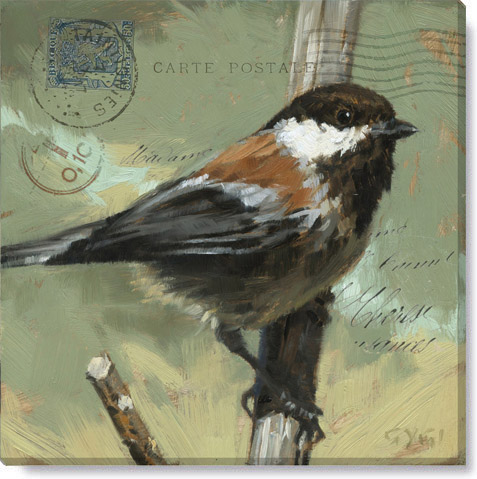 messenger chickadee art print