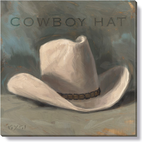 cowboy hat canvas art print