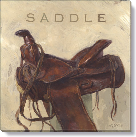 saddle canvas art print