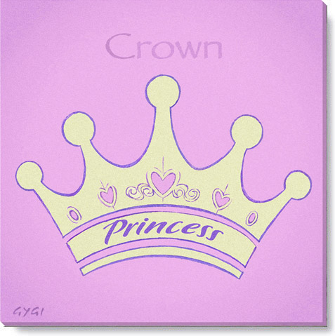 crown canvas art print