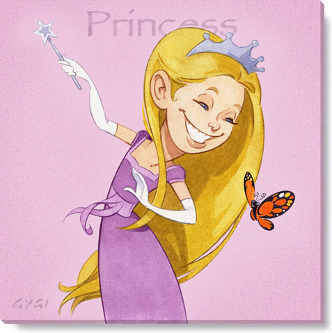 princess gallery wrapped giclee