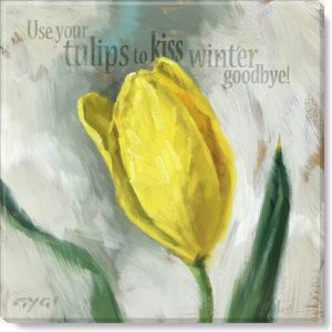 inspirational yellow tulip art print