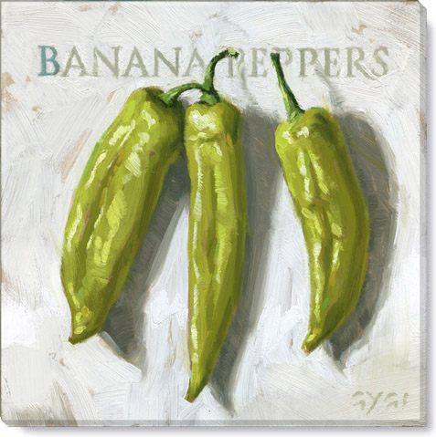 banana peppers art print