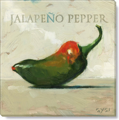 jalapeno peppers canvas art print