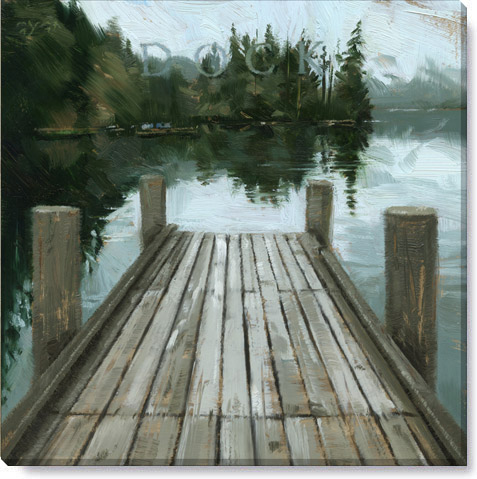 dock canvas art print