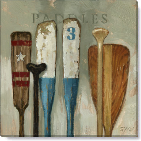 paddles canvas art print