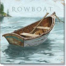rowboat canvas art print