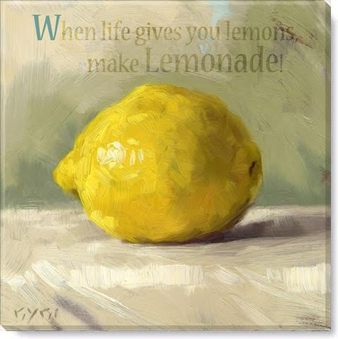 inspirational lemon art print