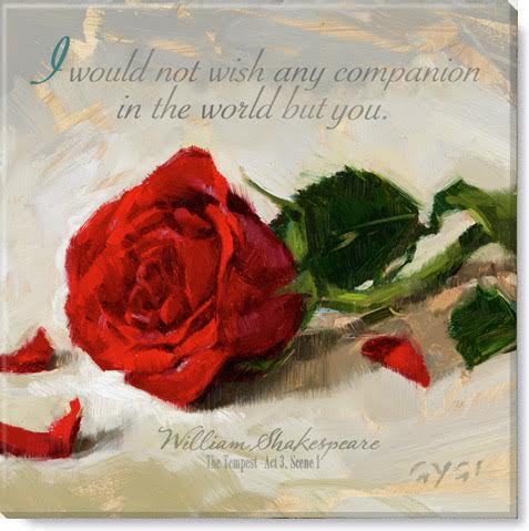 inspirational red rose art print