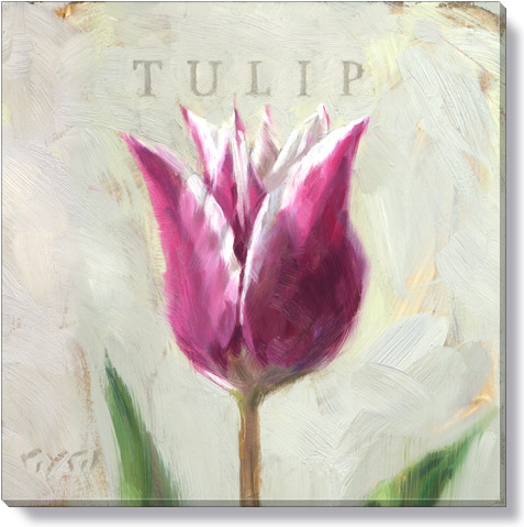 purple tulip giclee art print