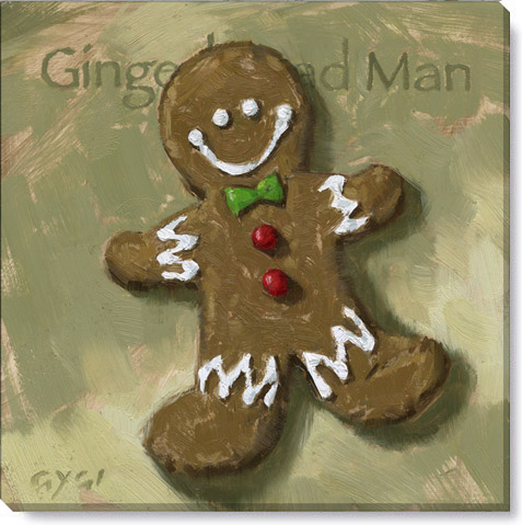 gingerbread man canvas art print
