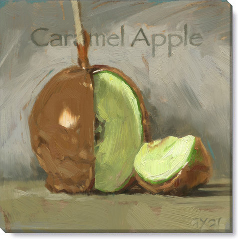 caramel apple giclee art print