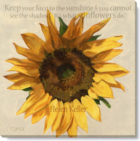 inspirational sunflower giclee art print