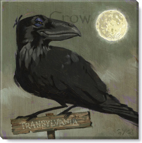 halloween crow art print