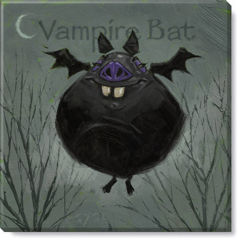 vampire bat canvas art print