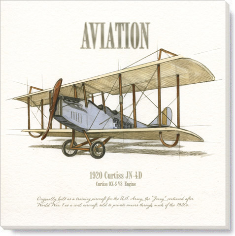 Curtiss airplane giclee art print