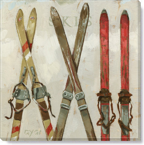 skis canvas art print