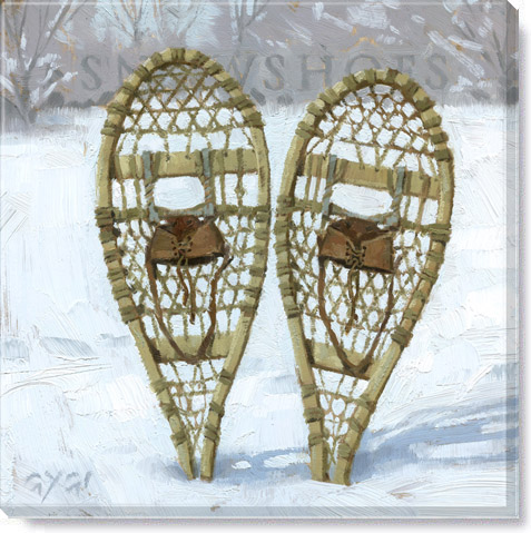 snowshoes giclee art print