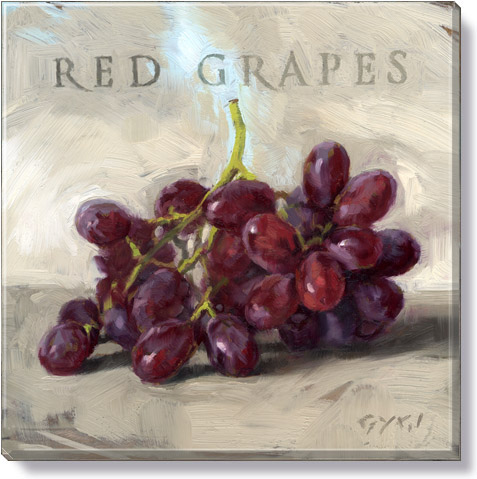 red grapes art print