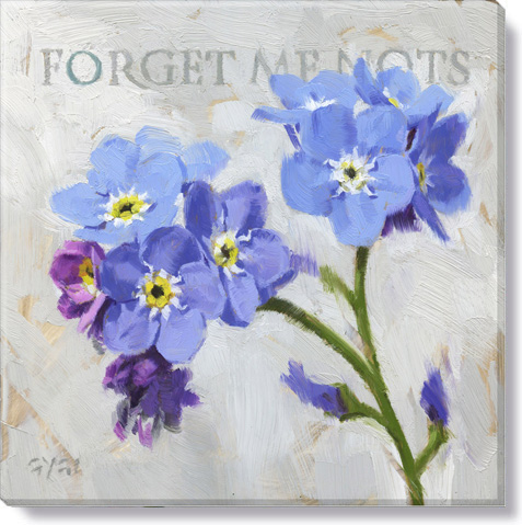 forget me nots giclee art print