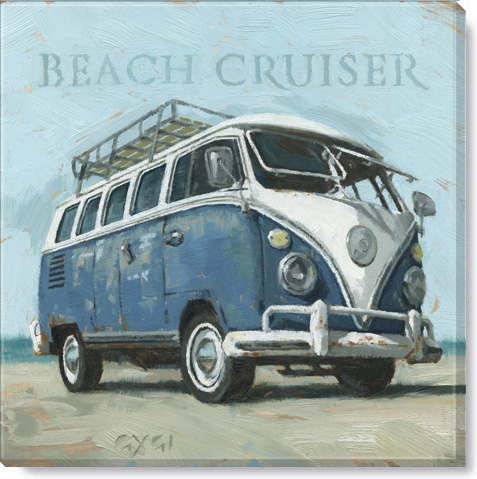 beach cruiser bus giclee art print