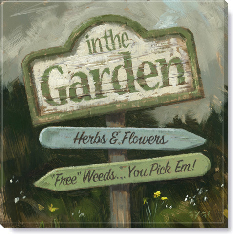 garden sign giclee art print