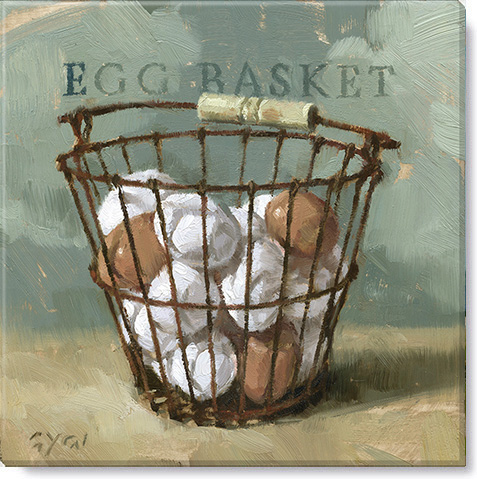 egg basket giclee art print