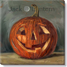 jack o' lantern canvas art print