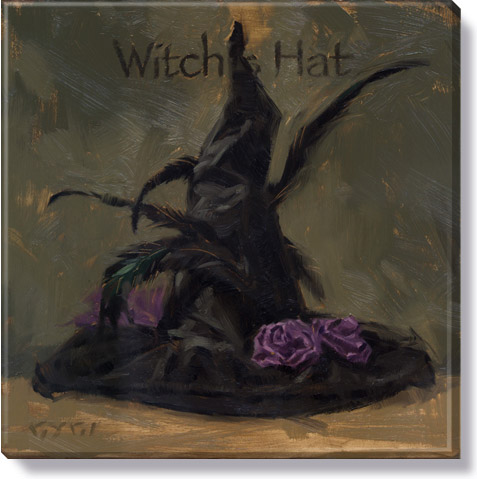witch's hat halloween wall art