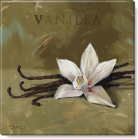 vanilla canvas art print