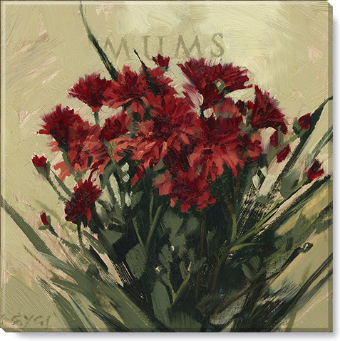mums flower canvas art print