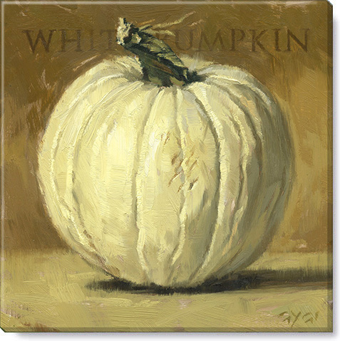 white pumpkin canvas art print