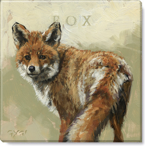 fox gallery wrapped giclee print