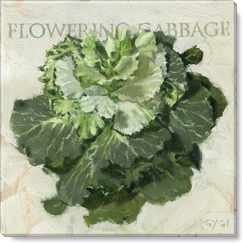 flowering cabbage art print