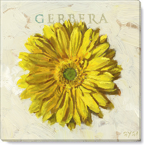 yellow gerbera art print